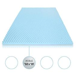 Milliard 2in. Egg Crate Gel Memory Foam Mattress Topper - Qu