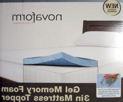 Novaform Gel Memory Foam 3 Inch Mattress Topper-Twin Size