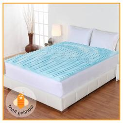 QUEEN SIZE MEMORY FOAM MATTRESS TOPPER 2 Inch Orthopedic 5 Z