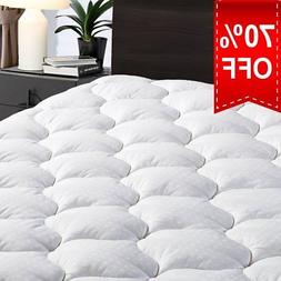"Queen Overfilled Mattress Pad Cover 8-21""Deep Pocket-Cooli"