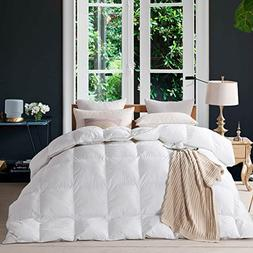 SNOWMAN White Goose Down Comforter CAL King Size 100% Cotton