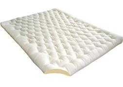 The Futon Shop 2-Inch Pure Wool Mattress Topper with Cotton