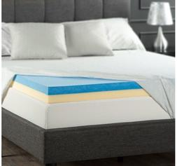 Zinus Sleep Master 4 Inch Gel Memory Foam Mattress Topper, Q