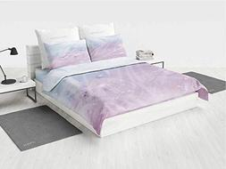 Abstract 4pc Bed Sheet Set Environment Inspired Floral Patte