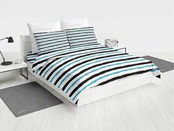 Abstract Quilt Bedding Sets Queen Paintbrush Large Color Ban