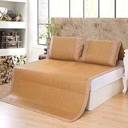 Qbedding Ancient Rattan Cooling Mattress Topper Pad + Pillow