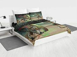 Anime Decor Avengers Bedding Set Animal Comics Superheros wi
