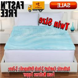 Authentic Comfort 2-Inch Orthopedic 5-Zone Foam Mattress Top