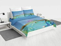4 Piece 3D Printing Bedding Set,Art,Reversible Cartoon Child
