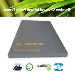 bamboo charcoal foam mattress topper