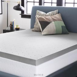 LUCID 3 Inch Bamboo Charcoal Memory Foam Mattress Topper - K