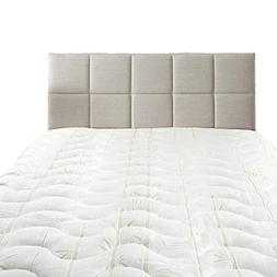 Hypoallergenic Cool BAMBOO JACQUARD FITTED MATTRESS TOPPER T