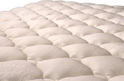 VirtueValue Extra Plush Bamboo Top Mattress Pad New with Man