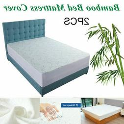 Bamboo Mattress Protector Topper Bed Cover Waterproof Hypoal