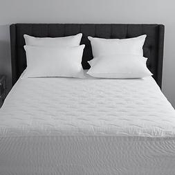 500-Thread Count Pima Cotton Dobby Stripe Mattress Pad | Hyp