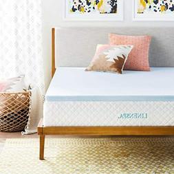 Bedroom Cool Memory Foam Infused Mattress Topper Regulating