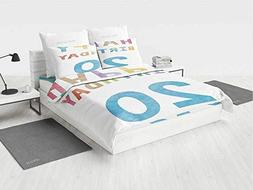20th Birthday Decorations 3D Bedding Sets King Size Sweet 20