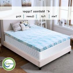 blue swirl gel memory foam mattress 4