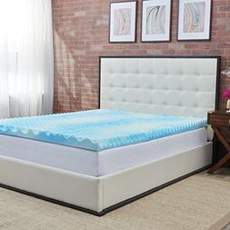 Authentic Comfort 4-Inch BlueWave Gel Memory Foam Mattress T