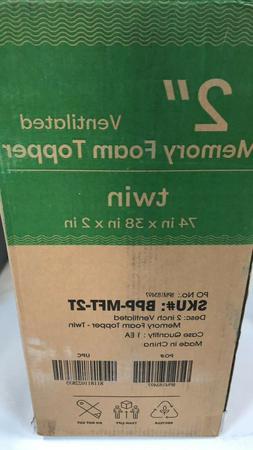 "Brand New Best Price Mattress 2"" Ventilated Memory Foam Matt"