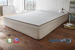 "PuraSleep 1"" Carbon Comfort Memory Foam Mattress Topper –"