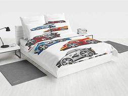 Cars Bedding Comforter Set Collection of Formula Race Cars M