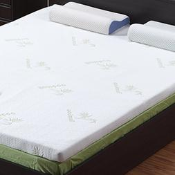 LANGRIA 3-Inch Full Mattress Toppers Memory Foam Bed Topper