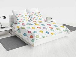 Colorful sea Queen Bedding Set Colorful Balloons Birthday Pa