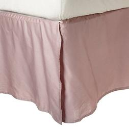 """Superior 100% Premium Combed Cotton, Bed Skirt with 15"""" Drop"""