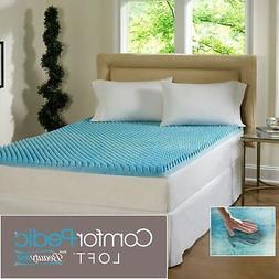 ComforPedic Cool Gel Memory Foam Bed Mattress Topper Cover P
