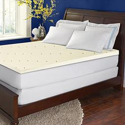 Continal Sleep, High Density 2-inch Foam Mattress Topper,Que