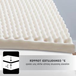 """New Beautyrest 3"""" Convoluted Foam Mattress Topper, Twin"""