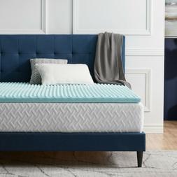 LUCID Comfort Collection Convoluted Gel Memory Foam Mattress