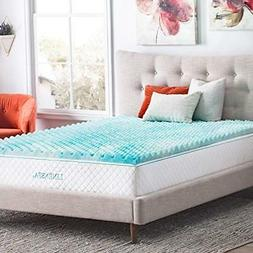 a14263587a13f Linenspa 2 Inch Convoluted Gel Swirl Memory Foam Mattress To