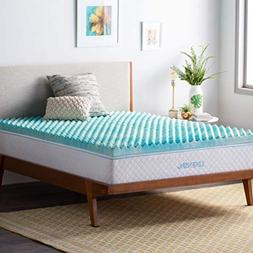 Linenspa 2 Inch Convoluted Gel Swirl Memory Foam Mattress To