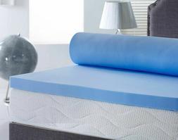 cool blue touch memory foam mattress topper
