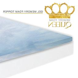 Gel Memory Foam Mattress Topper Pad Twin XL Size Bed - Made