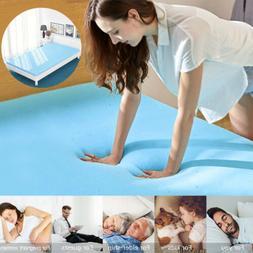 Cool Gel Memory Foam Mattress Topper 5 Zones Orthopedic Pad