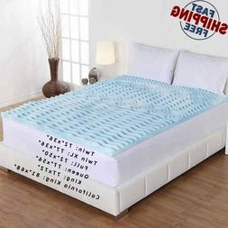 Cool Gel Memory Foam Mattress Topper 5 Zones Orthopedic Pad