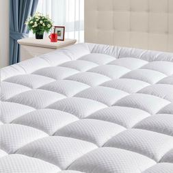 Cooling Cotton Fitted Mattress Pad Cover Pillowtop Soft Slee