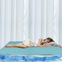 Cooling Gel Cooler Mattress Topper Pad Soft Bed Floor Sofa M