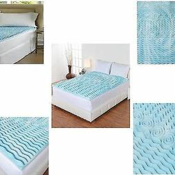 "Cooling Gel Foam Mattress Topper Pad Bed Queen Size 2"" Ortho"