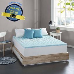 Cooling Gel Memory Foam Mattress Topper Pad Bed Cushion Zone
