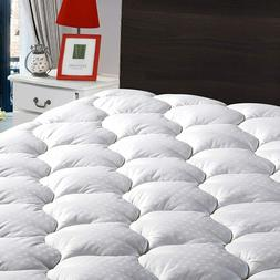 Cooling Mattress Pad Cover Snow Down Alternative Pillow Top