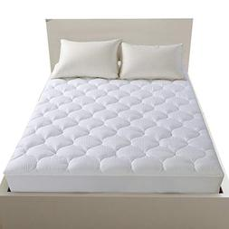 LEISURE TOWN Cooling Mattress Pad Cover-Fitted Quilted Mattr