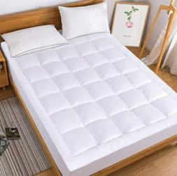 Cooling Mattress Pad Soft 300TC Cotton Cover Pillowtop Fitte