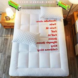 Cooling Mattress Topper Pad Cover Cotton Top Down Alternativ