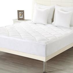 Deep Pocket Mattress Pad Overfilled Topper Poly-Cotton Hypoa