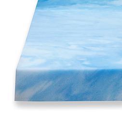 Sure2Sleep 3 Pound High Density Gel Memory Foam Mattress Top