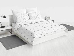Dog Lover Bedding Sheet Set Foot Prints of an Animal Pet Can